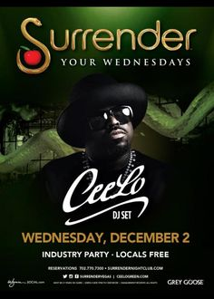 CeeLo at Surrender Nightclub