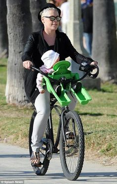 Pink and her baby Willow beach cruising. Cute idea!