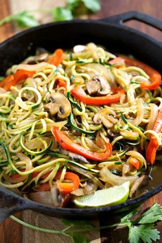 Veggie Fajita Noodles - 20 Fun and Easy Zucchini Noodle Recipes