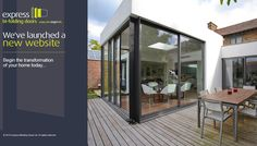 Bring the Outside In with Bespoke Bi-folding & Sliding Doors from the UK's Leading Aluminium Specialist. Corner Bifold Doors, Sliding Patio Doors, Sliding Glass Door, Open Plan Kitchen Dining, Kitchen Doors, Open Plan Living, 1920s Kitchen, Express Bi Folding Doors, Door Design Interior
