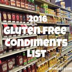 Gluten free condimen