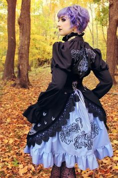 Gothic Lolita embroidered dress. New project from the Urban Threads Lab.
