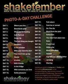 #Shaketember Photo-A-Day Challenge