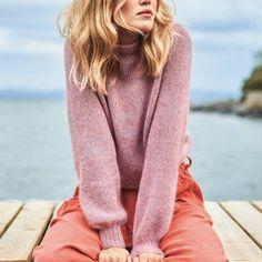 Billedresultat for basic genser sandnes Pullover Sweaters, Jumper, Linnet, Turtleneck, Free Pattern, Knit Crochet, Knitwear, Knitting Patterns, Cool Style