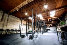 Want to see Rogue can do for your training facility? Crossfit Home Gym, At Home Gym, Judo, Parkour Gym, Clubhouse Design, Gym Interior, Interior Design, Gym Decor, Outdoor Gym