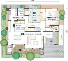 シャーウッド川越展示場|埼玉県|住宅展示場案内(モデルハウス)|積水ハウス Craftsman Floor Plans, Japanese House, House Layouts, My Dream Home, Living Spaces, House Plans, Flooring, How To Plan, Design