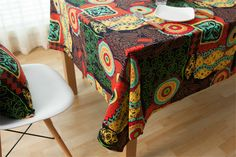 5 Size Bohemia Tablecloth Luxury Europe Endless Cotton Linen Cloth Dustproof Table Cover Home Hotel - Newchic Mobile.