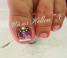 Pretty Toe Nails, Fancy Nails, Love Nails, Toenail Art Designs, Pedicure Designs, Feet Nails, Manicure E Pedicure, Toe Nail Art, Fabulous Nails