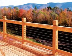 stainless steel cable railing system for outdoor decks and unobstructed views. Cable Railing DIY