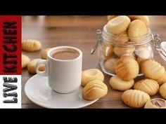 Απίθανα Μπισκότα με μόνο 3 Υλικά! - 3 Ingredient Cookies in 3 Minutes - YouTube 3 Ingredient Cookies, Kitchen Living, 3 Ingredients, Cookie Recipes, Biscuits, Bakery, Favorite Recipes, Sugar, Tableware