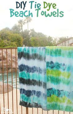 DIY Tie Dye Beach Towels
