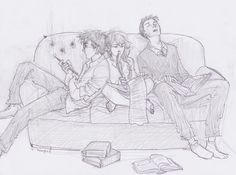 trio drawing by burdge