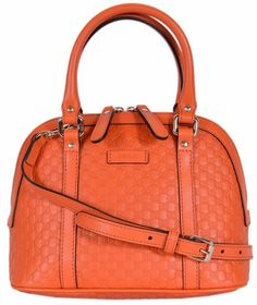 76ce3c8fa133 Queen Bee of Beverly Hills · Products · Gucci Microguccissima Soft Margaux  Orange Leather Dome Bag 449654