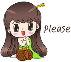 Boobib in traditional thai girl style. She is lovely, funny and cute. Let's her make your chat full of fun. Korean Stickers, Emoji Stickers, Love Stickers, Cute Couple Cartoon, Cute Love Cartoons, Retro Girls, Cute Girls, Japanese Tatoo, Thai Art