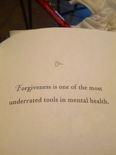 "So many problems today that are labeled ""mental"" issues have deep roots in the sin of unforgiveness.  No amount of prescription drugs will ever take the guilt away that we harbor from not forgiving others.  Forgiveness is powerful!  I know from experience!"