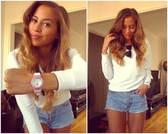 Swedish fashion blogger Kenza with her colorful Jolli Time watch combination!