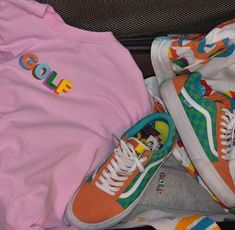 golf wang collection collab vans tyler the creator Sneaker Outfits, Tomboy Outfits, Cool Outfits, Fashion Outfits, Golf Attire, Golf Outfit, Sneakers Mode, Vans Sneakers, Aesthetic Shoes