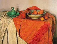 Claudio bravo- Les Oranges- Huile sur lin -(114X147cm)-2002