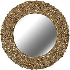 Could also work with guest bath   http://www.overstock.com/Home-Garden/Tethys-Wall-Mirror/6541898/product.html?CID=214117 $139.49