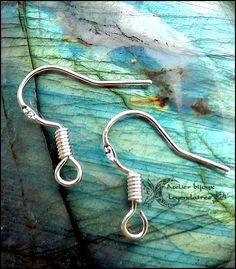 Option de personnalisation: Crochets en argent 925 pour boucles d'oreilles Atelier bijoux légendaires : Boucles d'oreille par atelier-bijoux-legendaires