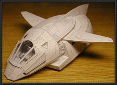 LS-7 Shuttle Free Spaceship Paper Model Download