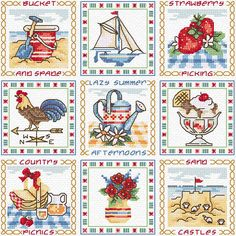 cross stitch patterns summer - Google Search