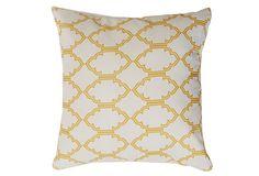 Mosaic Outdoor Pillow, Yellow  DIVINE DESIGNS  55.00/110.00 Retail