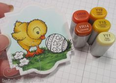 One Krafty Kat: Bright Easter Chickie