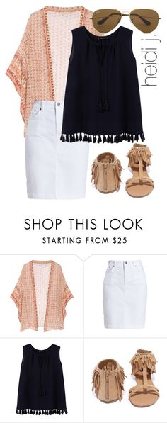 """fringes."" by itsheidij ❤ liked on Polyvore featuring Mes Demoiselles..., Barbour, Violeta by Mango, Qupid and Ray-Ban"