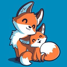 Mama & Baby Fox T-Shirt TeeTurtle