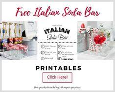 Build Your Own Italian Soda Bar! Italian Sodas Recipe, Italian Soda Bar, Ice Club, Torani Syrup, Soda Syrup, Drink Display, Italian Night, Geode Cake, Soda Recipe
