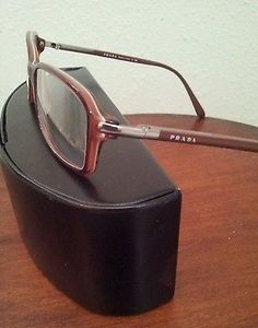 Mens Prada Eyeglass Frames Brown VPR 17G 70I-1O1 (52-16-135)