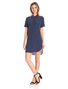 Equipment women's short sleeve slim signature shirt dress