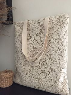 Items similar to SALE Handmade Shabby Chic Cotton Wedding Bag, Lace Bag, Lace Tote, Vintage Style, I Shabby Chic Kleidung, Shabby Chic Stoff, Lace Bag, Vintage Stil, Vintage Country, Custom Bags, Cotton Lace, Vintage Cotton, Handmade Bags