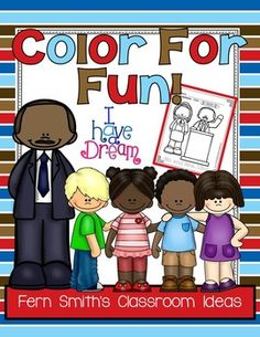 #FREE Martin Luther King, Jr. Color For Fun Printable Coloring Pages #TPT #MLK
