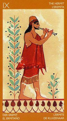 The Hermit - Etruscan Tarot