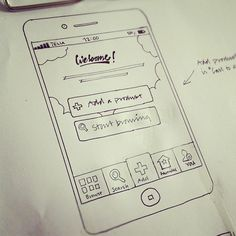 Making concept sketche for a mobile app. #UX #concept