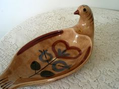 Vintage California Pottery Brown by SocialmarysTreasures on Etsy, $24.00