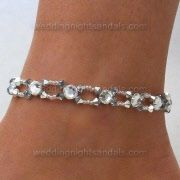 rhinestone crystal anklet...What a way to add something special to your wedding day.
