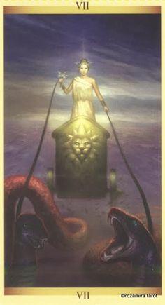 Carro - Discernimento The Chariot - Tarot of the Sacred Feminine The Chariot Tarot, Tarot Cards Major Arcana, Le Tarot, 5 September, Hero's Journey, Sacred Feminine, Angel Cards, Oracle Cards, Tarot Decks