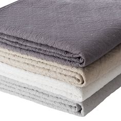 Classic Cotton Quilted Bedspread - Cotton Blankets & Bedspreads - Bedspreads