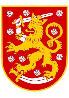 suomen vaakuna - Sök på Google Ferrari Logo, Coat Of Arms, Finland, Kids Rugs, Design, Humor, Google Search, Weapons Guns, Crests
