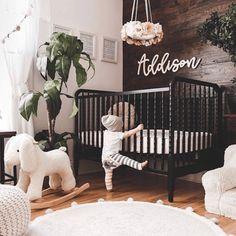 love this interior design! It's a great idea for home decor. Home design. I love this interior design! It's a great idea for home decor. Home design. - -I love this interior design! It's a great idea for home decor. Home design. Baby Bedroom, Nursery Room, Girl Nursery, Girl Room, Kids Bedroom, Black Crib Nursery, Boho Nursery, Dark Wood Nursery, Babies Nursery
