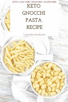 """Keto Gnocchi Di Patate with its real Pillowy Pasta Texture with """"Melt in your Mouth"""" Potato like Flavor are unrecognizable Pasta, Dumplings or Gnocchi replacement in Low Carb Lifestyle. Fully… More Low Carb Dinner Recipes, Keto Dinner, Lunch Recipes, Ketogenic Recipes, Keto Recipes, Ketogenic Diet, Low Carb Rice, Keto Pasta Recipe, Gluten Free Gnocchi"""