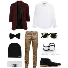 Untitled #235 by ohhhifyouonlyknew on Polyvore featuring Neff, 21 Men, Jack & Jones, Ray-Ban, tomboy, lgbt and dyke