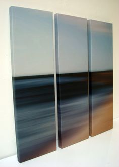 Color rich luminous beach paintings by dominic piperata for Multi canvas art diy