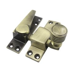 Straight Arm Sash Fastener - Antique Brass