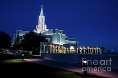 A view of the Bountiful Mormon (LDS) Temple at Twilight. The Bountiful Temple is the 47th Temple of the Church of Jesus Christ of Latter Day Saints, and the 8th constructed in Utah. The temple was dedicated in 1995, by church president Howard W. Hunter. The Temple shares a common floor plan with the Timpanogos LDS Temple located in American Fork, Utah. On May 22, 2016, the Temple made headlines when a lightning bolt struck and damaged the Angel Moroni statue atop the Temple's spire.