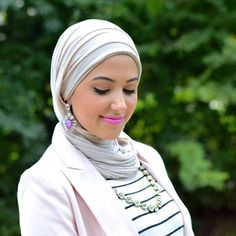 Hijab style with earrings