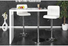 DUO - design bar table white high gloss kitchen breakfast bar by Neofurn